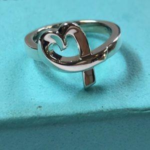 Tiffany&Co 925 loving heart wrap around ring